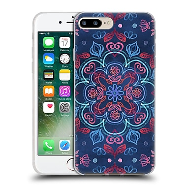 Official Micklyn Le Feuvre Mandala Cherry Red And Navy Blue Soft Gel Case For Apple Iphone 7 Plus