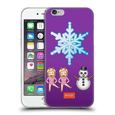 Official Emoji Movies And Series Big Snowflake Soft Gel Case For Apple Iphone 6 / 6S