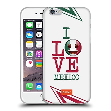 Official Emoji I Love My Country Mexico Soft Gel Case For Apple Iphone 6 / 6S