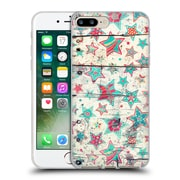 Official Micklyn Le Feuvre Holiday Patterns Grunge Stars On Shabby Chic White Painted Wood Soft Gel Case For Apple Iphone 7 Plus