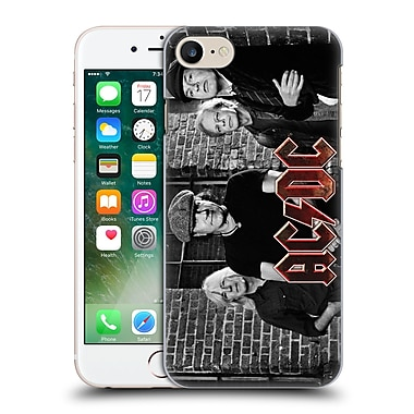 Official Ac/Dc Acdc Group Photo Black And White Bricks Hard Back Case For Apple Iphone 7