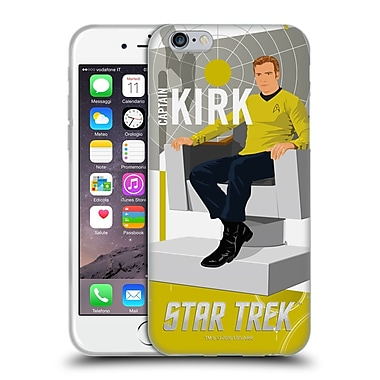 Official Star Trek Iconic Characters Tos Captain Kirk Soft Gel Case For Apple Iphone 6 / 6S