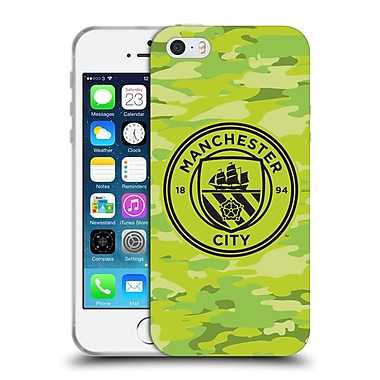Official Manchester City Man City Fc Badge Camou Goalee Mono Soft Gel Case For Apple Iphone 5 / 5S / Se