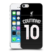 Official Liverpool Football Club Shirt Away Shirt Black Coutinho Hard Back Case For Apple Iphone 5 / 5S / Se
