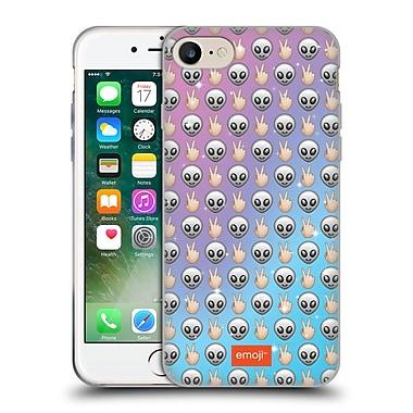 Official Emoji Patterns Alien Soft Gel Case For Apple Iphone 7