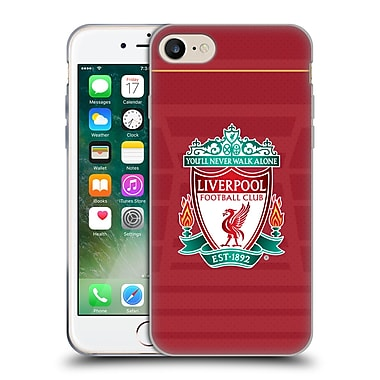 Official Liverpool Football Club Kit 2016/17 Crest Home Shirt Soft Gel Case For Apple Iphone 7