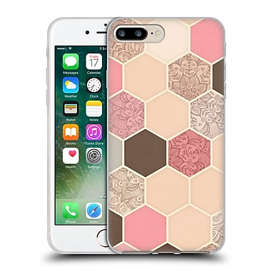 Official Micklyn Le Feuvre Hexagon Patterns Caramel Cocoa Strawberry Cream Soft Gel Case For Apple Iphone 7 Plus