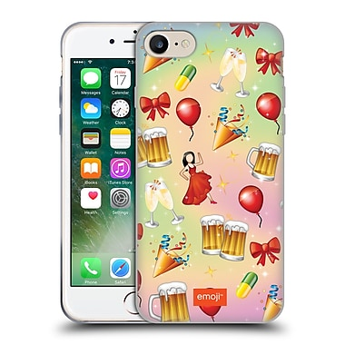 Official Emoji Patterns Party Soft Gel Case For Apple Iphone 7