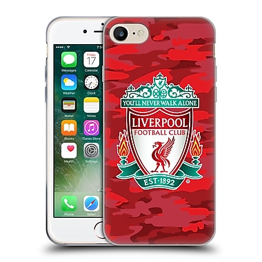 Official Liverpool Football Club Camou Home Colourways Crest Soft Gel Case For Apple Iphone 7
