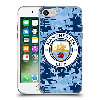 Official Manchester City Man City Fc Digital Camouflage Brick Bluemoon Soft Gel Case For Apple Iphone 7