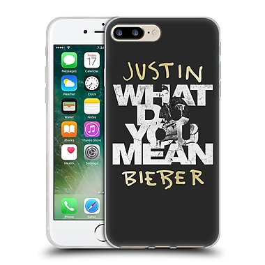 Official Justin Bieber Purpose B&W What Do You Mean Typography Soft Gel Case For Apple Iphone 7 Plus