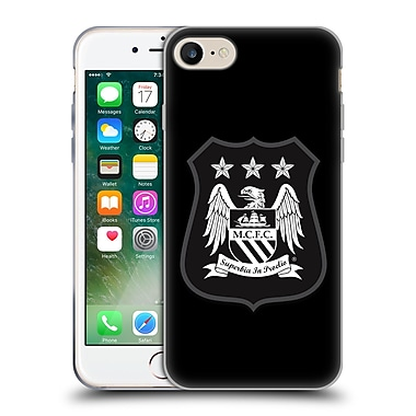 Official Manchester City Man City Fc Crest Kit Mono White Soft Gel Case For Apple Iphone 7