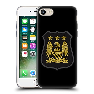 Official Manchester City Man City Fc Crest Kit Mono Gold Soft Gel Case For Apple Iphone 7