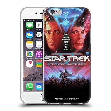 Official Star Trek Movie Posters Tos The Final Frontier Soft Gel Case For Apple Iphone 6 / 6S