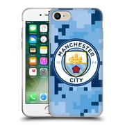 Official Manchester City Man City Fc Digital Camouflage Bluemoon Soft Gel Case For Apple Iphone 7