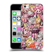Official Emoji Full Patterns Pink Soft Gel Case For Apple Iphone 5C