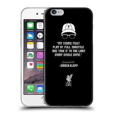 Official Liverpool Football Club Klopp Quotes Full Throttle Icon Soft Gel Case For Apple Iphone 6 / 6S