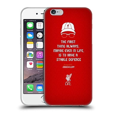 Official Liverpool Football Club Klopp Quotes Defence Soft Gel Case For Apple Iphone 6 / 6S