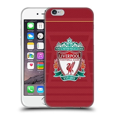 Official Liverpool Football Club Kit 2016/17 Crest Home Shirt Soft Gel Case For Apple Iphone 6 / 6S