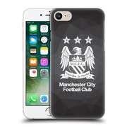 Official Manchester City Man City Fc Crest Geometric Black Geo Full Black Hard Back Case For Apple Iphone 7