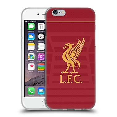 Official Liverpool Football Club Kit 2016/17 Liver Bird Home Shirt Soft Gel Case For Apple Iphone 6 / 6S
