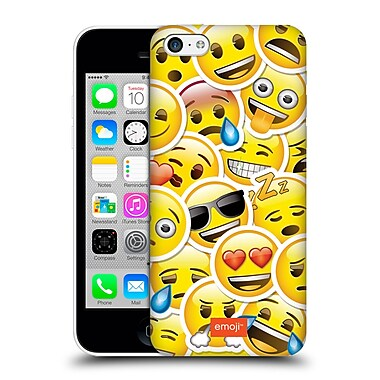 Official Emoji Smileys Sticker Hard Back Case For Apple Iphone 5C