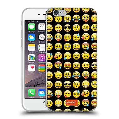 Official Emoji Smileys Pattern Soft Gel Case For Apple Iphone 6 / 6S