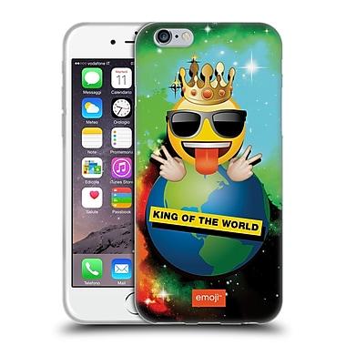 Official Emoji Smileys King Of The World Soft Gel Case For Apple Iphone 6 / 6S