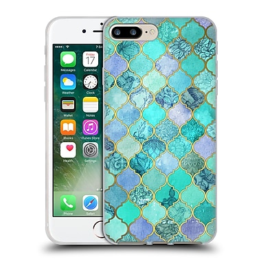 Official Micklyn Le Feuvre Moroccan Mint Green Soft Gel Case For Apple Iphone 7 Plus