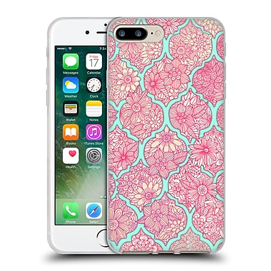 Official Micklyn Le Feuvre Moroccan Pink And Teal Soft Gel Case For Apple Iphone 7 Plus