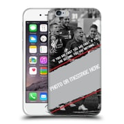 Custom Customised Personalised Liverpool Fc Goal Soft Gel Case For Apple Iphone 6 / 6S