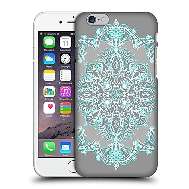 Official Micklyn Le Feuvre Mandala 3 Teal And Aqua Lace Hard Back Case For Apple Iphone 6 / 6S