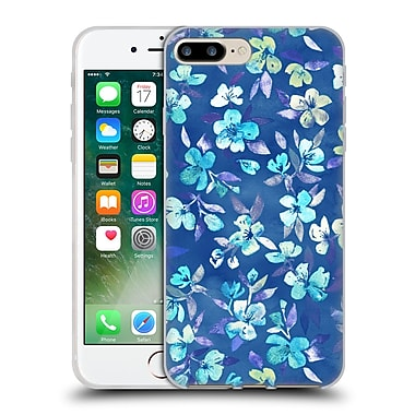 Official Micklyn Le Feuvre Florals 2 Grown Up Betty Blue Watercolour Floral Soft Gel Case For Apple Iphone 7 Plus