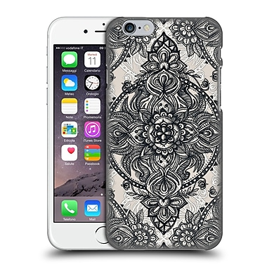 Official Micklyn Le Feuvre Mandala 3 Charcoal Lace Pencil Doodle Hard Back Case For Apple Iphone 6 / 6S