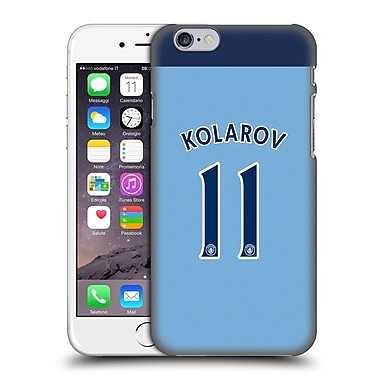 Official Manchester City Man City Fc Player Home Kit 2016/17 Group 1 Kolarov Hard Back Case For Apple Iphone 6 / 6S
