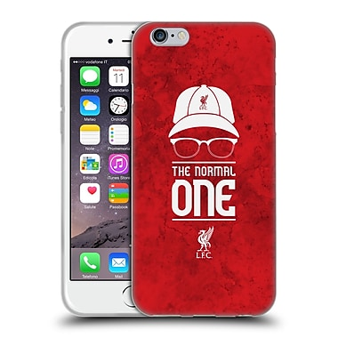 Official Liverpool Football Club Klopp Icons Normal Red Grunge Soft Gel Case For Apple Iphone 6 / 6S
