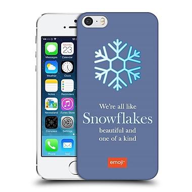 Official Emoji Winter Quotes Snowflakes Hard Back Case For Apple Iphone 5 / 5S / Se