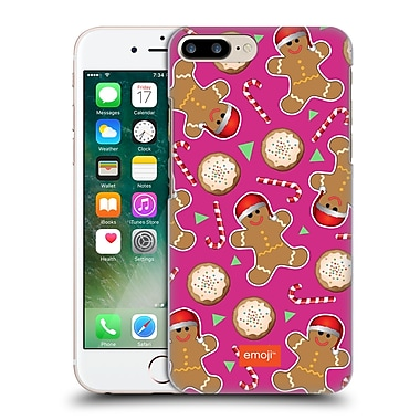 Official Emoji Christmas Patterns Gingerbread Cookies Hard Back Case For Apple Iphone 7 Plus