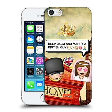 Official Emoji Photo Graphic British Guy Hard Back Case For Apple Iphone 5 / 5S / Se