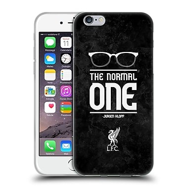 Official Liverpool Football Club Klopp Icons Glasses Grunge Black Soft Gel Case For Apple Iphone 6 / 6S