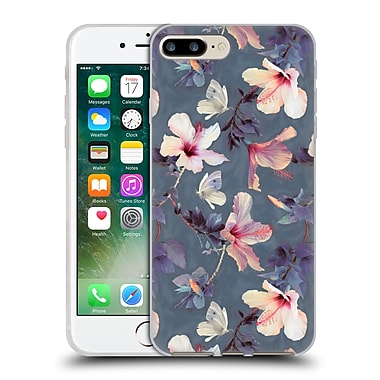 Official Micklyn Le Feuvre Florals Butterflies And Hibiscus Soft Gel Case For Apple Iphone 7 Plus