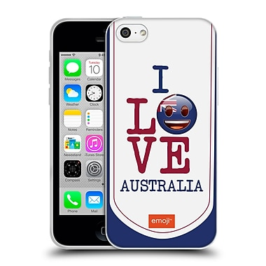 Official Emoji I Love My Country Australia Soft Gel Case For Apple Iphone 5C