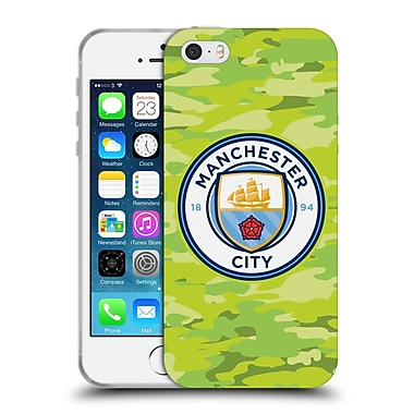 Official Manchester City Man City Fc Badge Camou Goalee Soft Gel Case For Apple Iphone 5 / 5S / Se