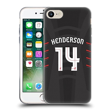 Official Liverpool Football Club Players Away Kit 16/17 Group 1 Henderson Soft Gel Case For Apple Iphone 7