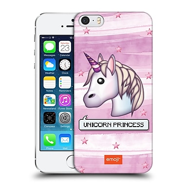 Official Emoji Pastel Sass Unicorn Princess Hard Back Case For Apple Iphone 5 / 5S / Se