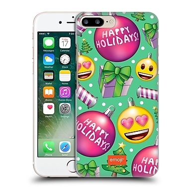 Official Emoji Christmas Patterns Pink Baubles Hard Back Case For Apple Iphone 7 Plus