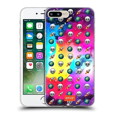 Official Emoji Space Pattern Soft Gel Case For Apple Iphone 7 Plus