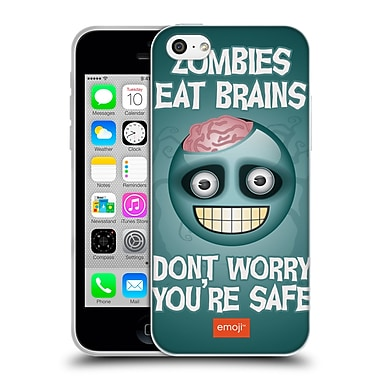 Official Emoji Halloween Parodies Zombie Brains Soft Gel Case For Apple Iphone 5C
