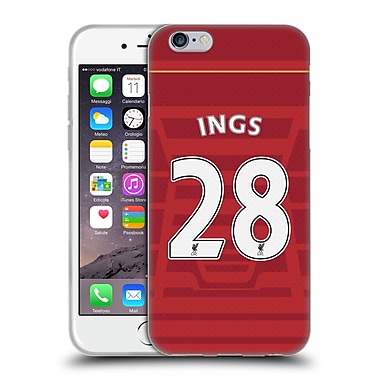 Official Liverpool Football Club Players Home Kit 16/17 Group 1 Ings Soft Gel Case For Apple Iphone 6 / 6S