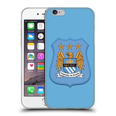 Official Manchester City Man City Fc Crest Kit Home Kit Soft Gel Case For Apple Iphone 6 / 6S